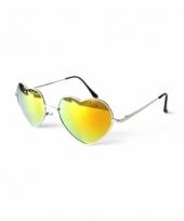 Hartvormige pilotenbril goudkleurig