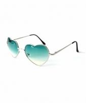 Hartvormige pilotenbril groen
