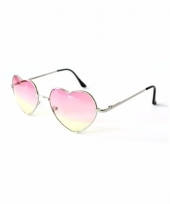 Hartvormige pilotenbril roze 10087765