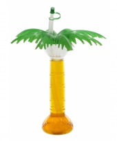 Hawaii decoratie beker palmboom 500 ml