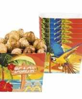 Hawaii snackbakjes 6 stuks