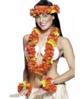 Hawaiiaanse krans set rood