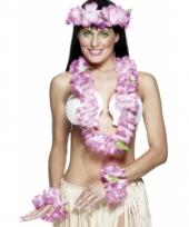 Hawaiiaanse krans set roze