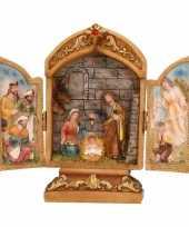 Heilige familie drieluik beelden 18 cm