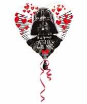 Helium ballon hartvorm star wars 43cm