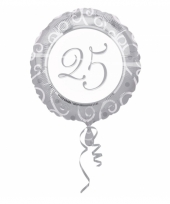 Helium ballon in zilver met 25