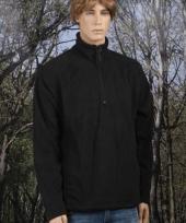 Heren fleece sweater zwart