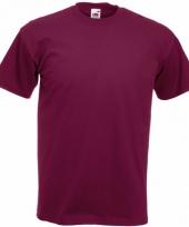 Heren fruit of the loom t-shirt bordeaux