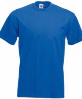 Heren fruit of the loom t-shirt kobalt
