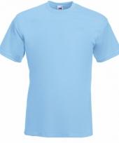 Heren fruit of the loom t-shirt lichtblauw