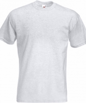 Heren fruit of the loom t-shirt lichtgrijs