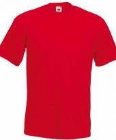Heren fruit of the loom t-shirt rood