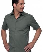 Heren overhemd korte mouw