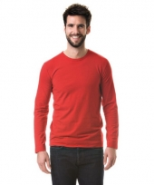 Heren shirt long sleeve stretch