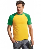 Heren t-shirt brazilie kleuren