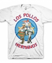 Heren t-shirt los pollos hermanos wit
