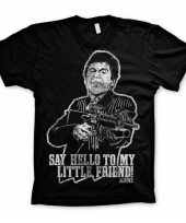 Heren t-shirt scarface say hello to my little friend
