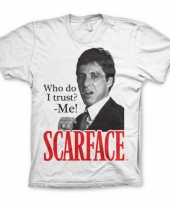 Heren t-shirt scarface who do i trust