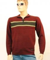 Heren trui met halsrits 10013522