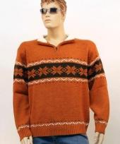 Heren trui met halsrits