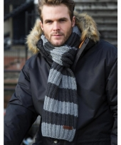 Heren winter sjaal grijs blauw