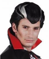 Herenpruik vampier zwart wit