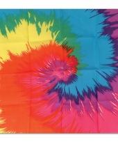 Hippie bandana met tie dye print