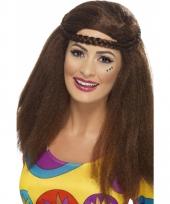 Hippie damespruik met afro haar