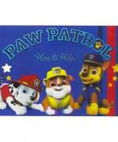 Hobby placemat paw patrol 3d blauw