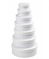 Hobby vorm rond wit 12 5 cm