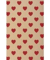 Hobbykarton met rode hartjes