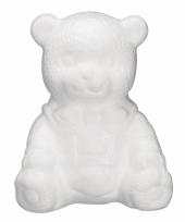 Hobbymateriaal piepschuim beren 16 cm