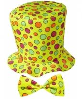 Hoge clownshoed met stippen 10069810