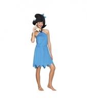 Holbewoonster jurk blauw voor dames