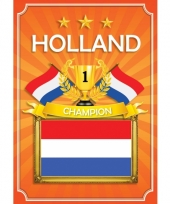 Holland deurposter rood wit blauw