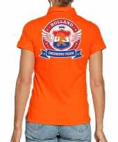 Holland drinking team poloshirt oranje voor dames