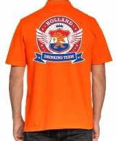 Holland drinking team poloshirt oranje voor heren