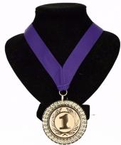 Holland medaille nr 1 halslint paars