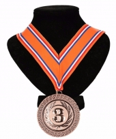 Holland medaille nr 3 halslint oranje rood wit blauw