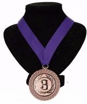 Holland medaille nr 3 halslint paars