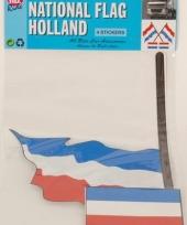 Hollandse vlag stickerset 4 stuks