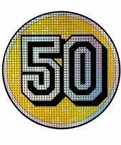 Holografisch decoratie bord 50 jaar