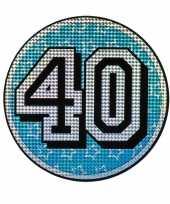 Holografisch decoratiebord 40 jaar