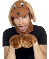Hond verkleed setje voor volwassenen 10078164