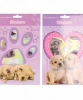 Honden puppy dieren stickertjes