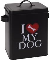 Hondenvoer opbergblik i love my dog 10089764
