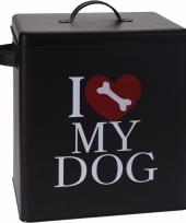 Hondenvoer opbergblik i love my dog