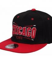 Honkbal pet chicago bulls zwart rood