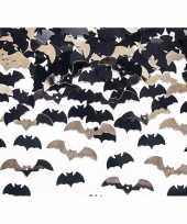 Horror confetti vleermuisjes zwart goud