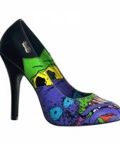 Horror dames hakken blauw zombie thema